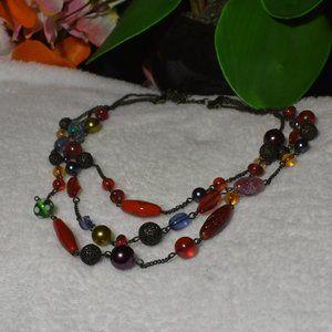 FABULOUS Vintage Avon Multi-Colored Bead Necklace